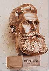 Wilhelm Conrad Roentgen  Sculpture by Jaroslav  Bocker