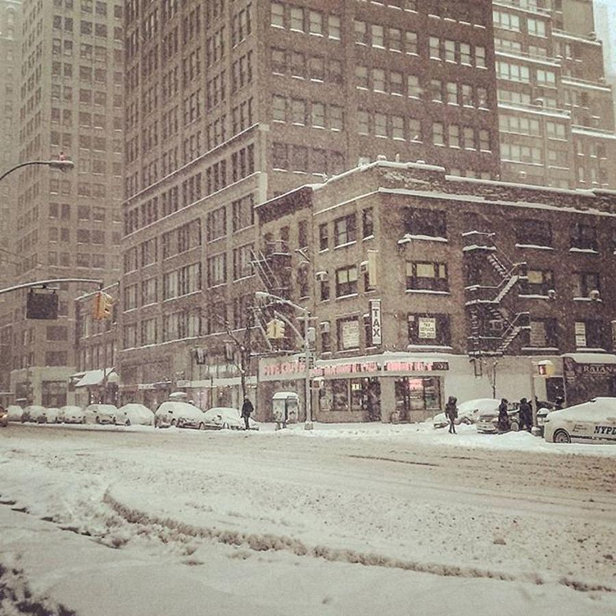 Newyorkcity Photograph - 7th Avenue & W. 29th St New York by Christopher M Moll