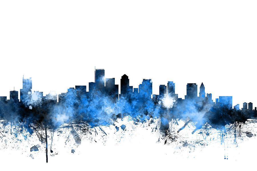 Boston Skyline Wall Art - Digital Art - Boston Massachusetts Skyline by Michael Tompsett  sc 1 st  Fine Art America & Boston Skyline Art | Fine Art America