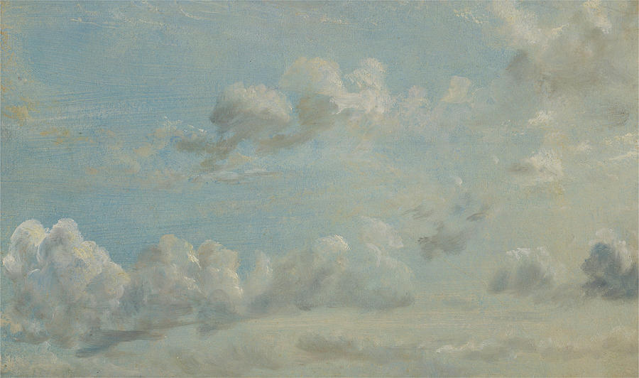 John Constable Painting - British Title Cloud Study by John Constable
