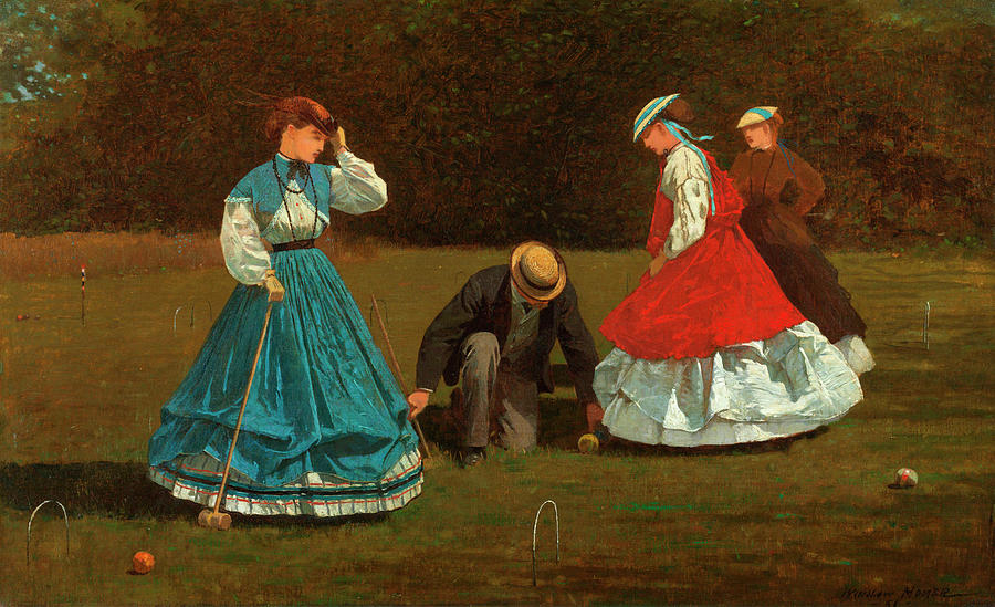 Croquet Painting - Croquet Scene by Winslow Homer