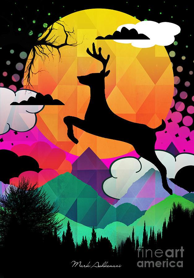 Animals Digital Art - Deer by Mark Ashkenazi