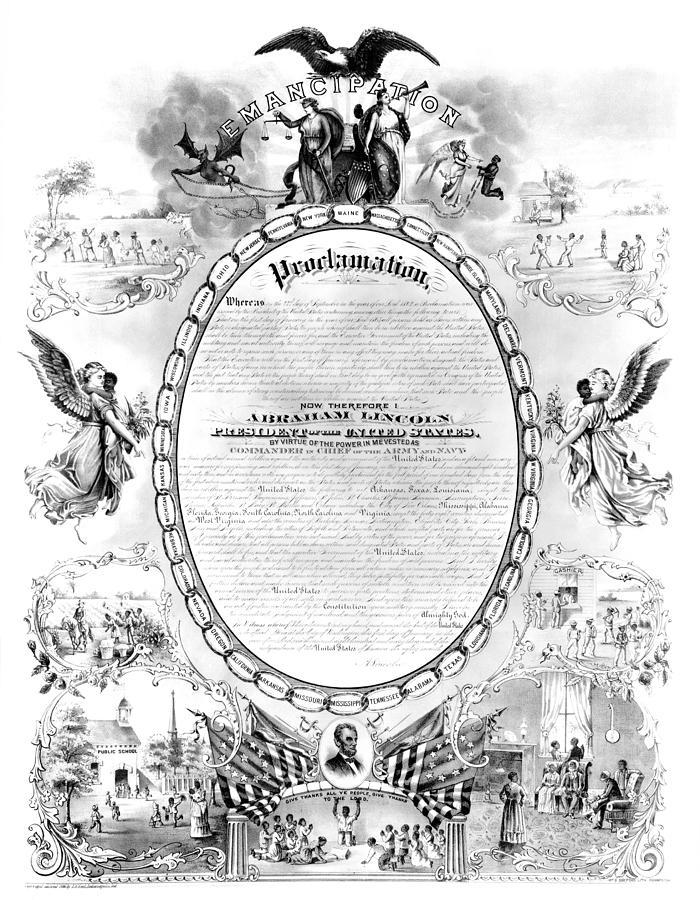 1868 Photograph - Emancipation Proclamation by Granger