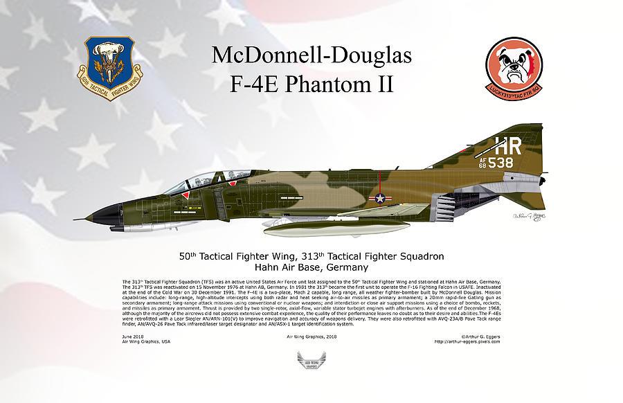 Mcdonnell Douglas Digital Art - Mcdonnell Douglas F-4e Phantom II 8 by Arthur Eggers
