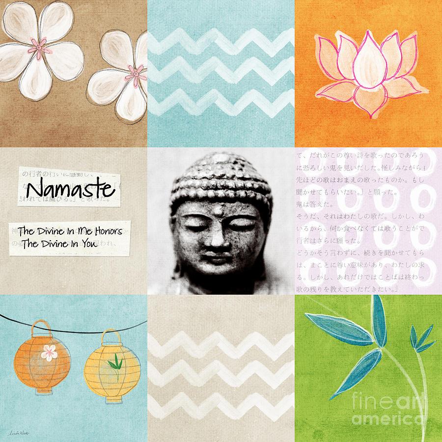 Buddha Painting - Namaste by Linda Woods