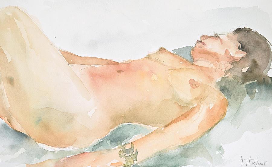 Nude Woman Painting - Nude Series by Eugenia Picado