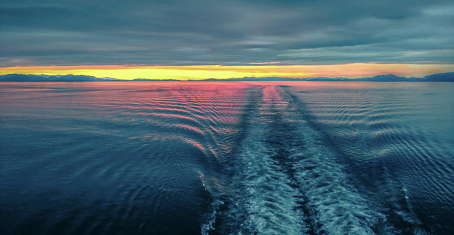 On Deck Of Huge Cruise Liner Ship From Seattle To Alaska Photograph