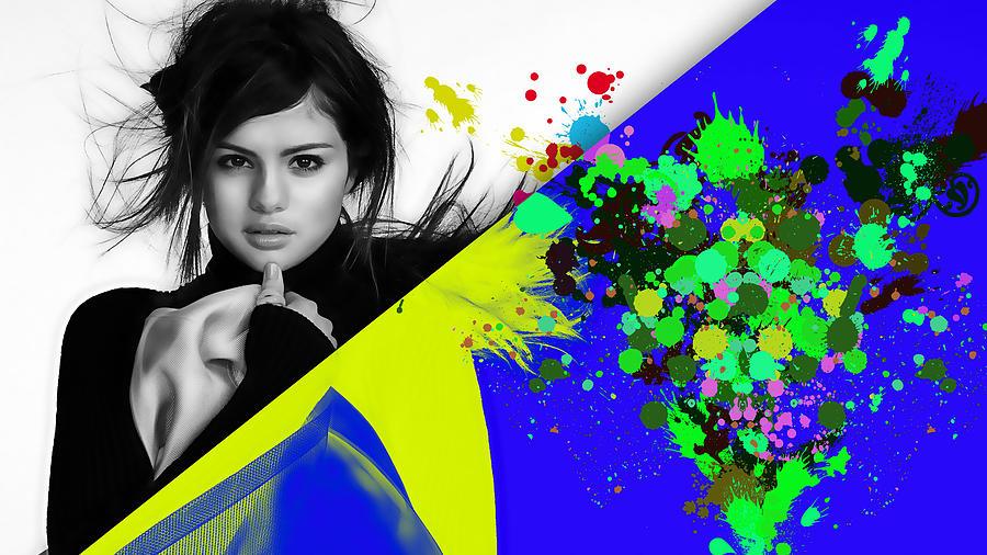 Selena Gomez Mixed Media - Selena Gomez Collection by Marvin Blaine