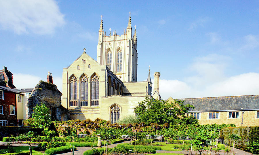 Abbey Photograph - St Edmundsbury Cathedral by Tom Gowanlock