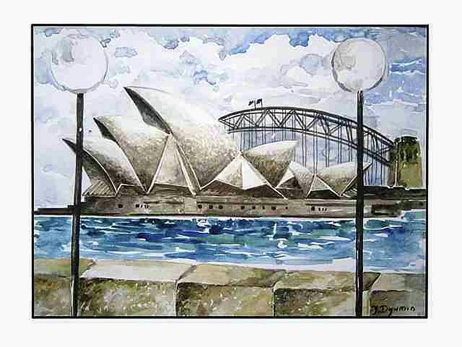 Australia Painting - Sydney Opera House by Yelena Revis