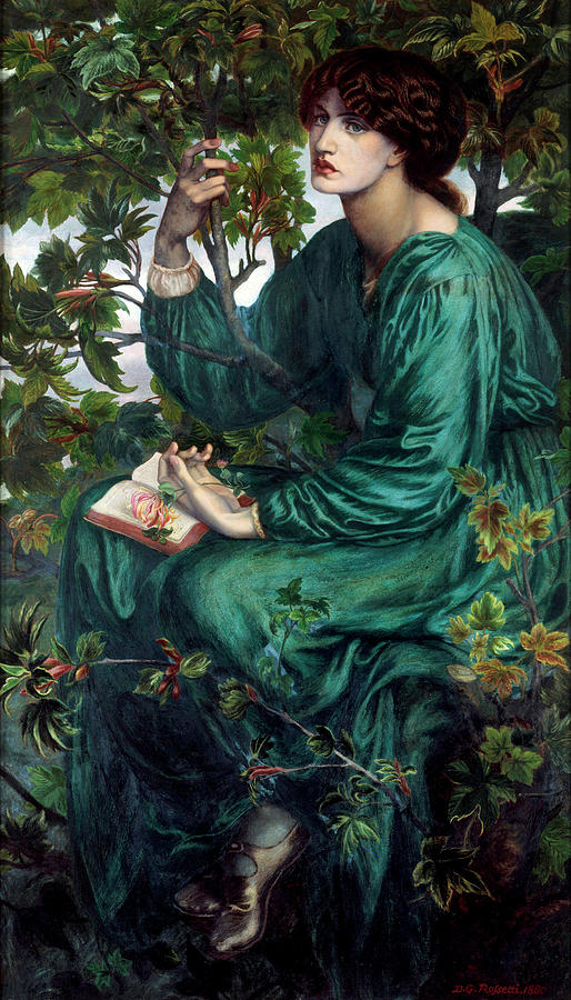 Day Dream Painting - The Day Dream by Dante Gabriel Rossetti