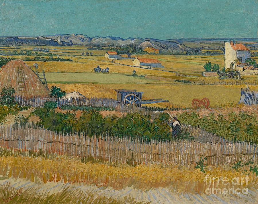 Vincent Van Gogh Painting - The Harvest by Van Gogh by Vincent Van Gogh