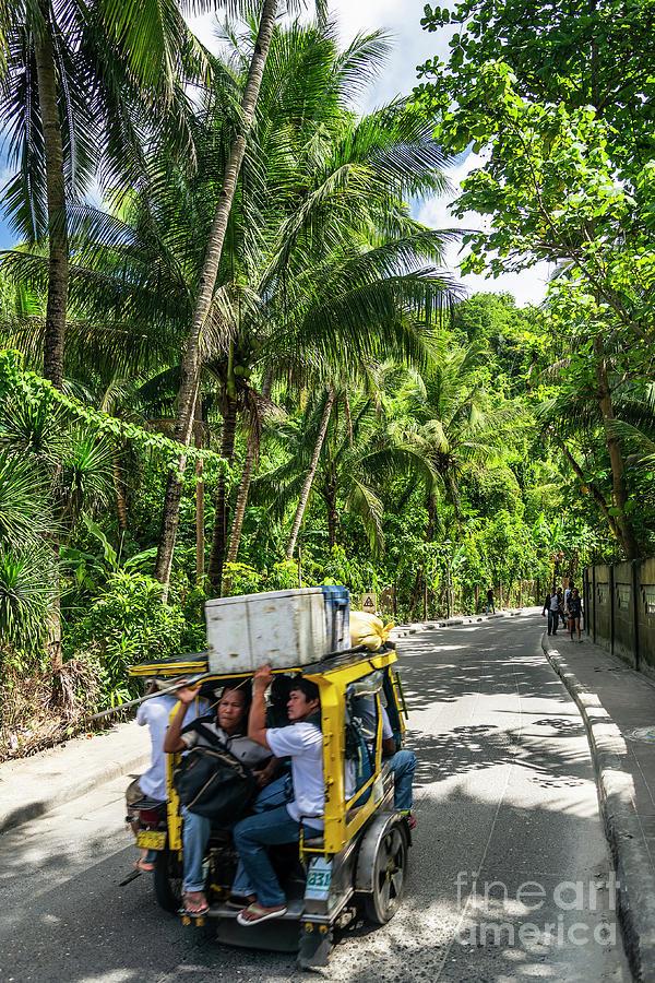 Area Photograph - Tuk Tuk Trike Taxi Local Transport In Boracay Island Philippines by Jacek Malipan