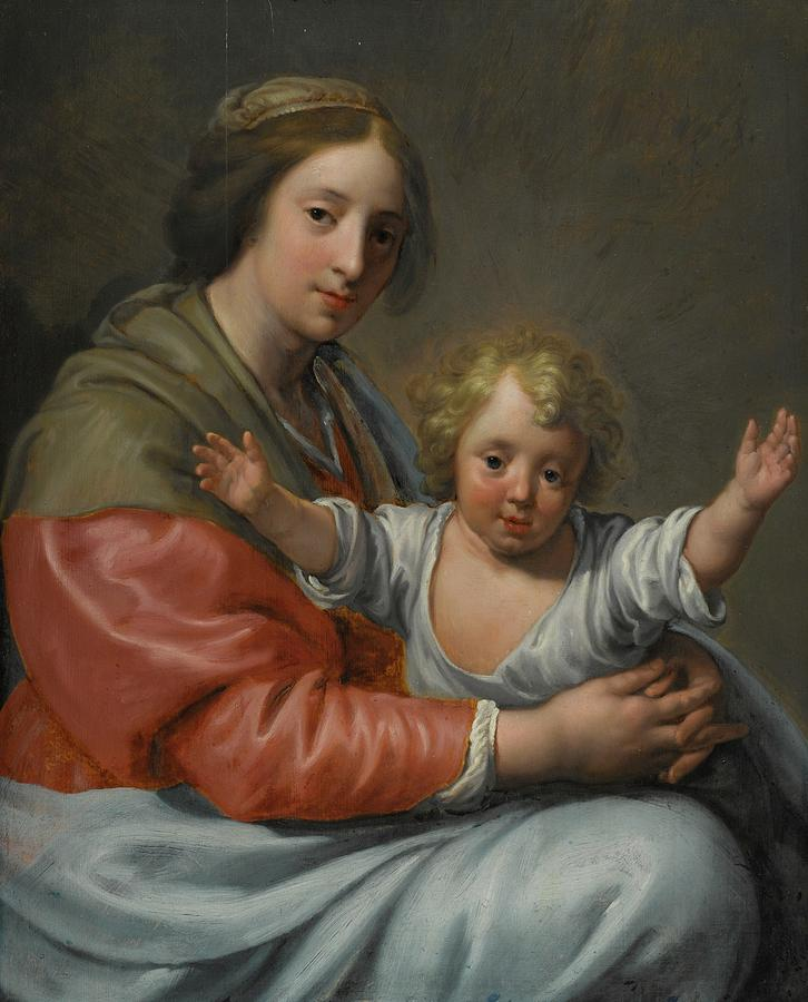 Virgin And Child Painting