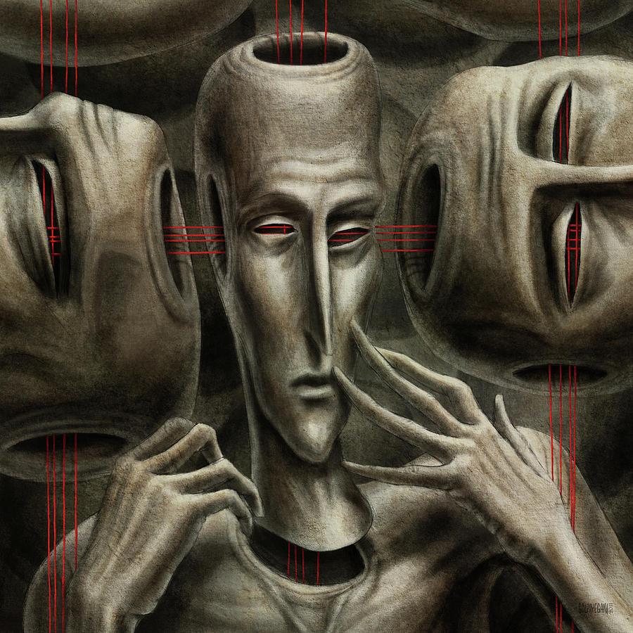 Surreal Painting - 80 by Farzad Golpayegani