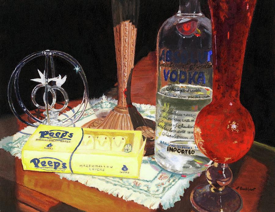 Still Life Painting - 80 Proof by Lynne Reichhart