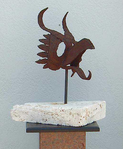 Sculpture Sculpture - The Raven by Richard W Beau Lieu