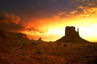 Sunrise Photograph - Monument Valley  Arizona by Tom Narwid