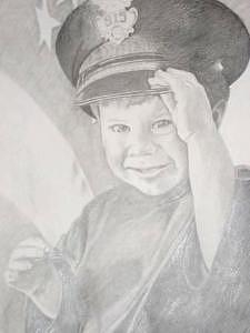Daddy's Boy Drawing - Private Collection by Suzan Tisdale