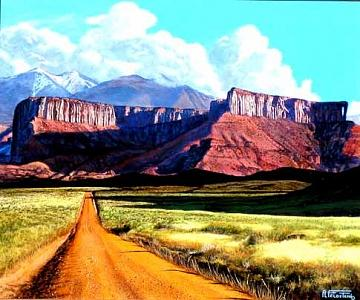 Moab Back Road Painting by Al Feldstein