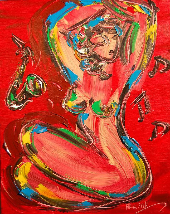 Nude Painting - Nude by Mark Kazav