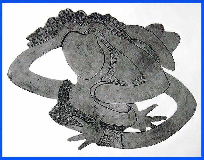 2 Figures Print - Lovers by Steve Mayo