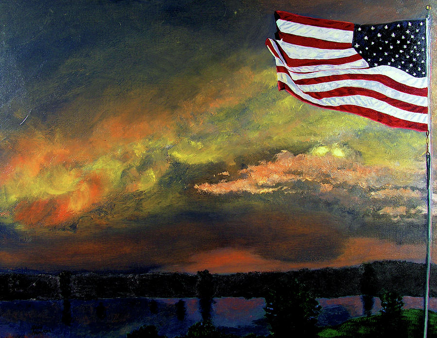 Landscape Painting - 9-11 by Stan Hamilton