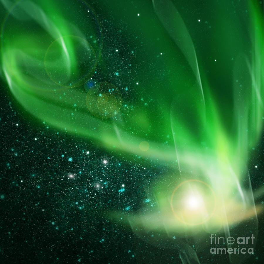 Above Photograph - Aurora Borealis by Setsiri Silapasuwanchai