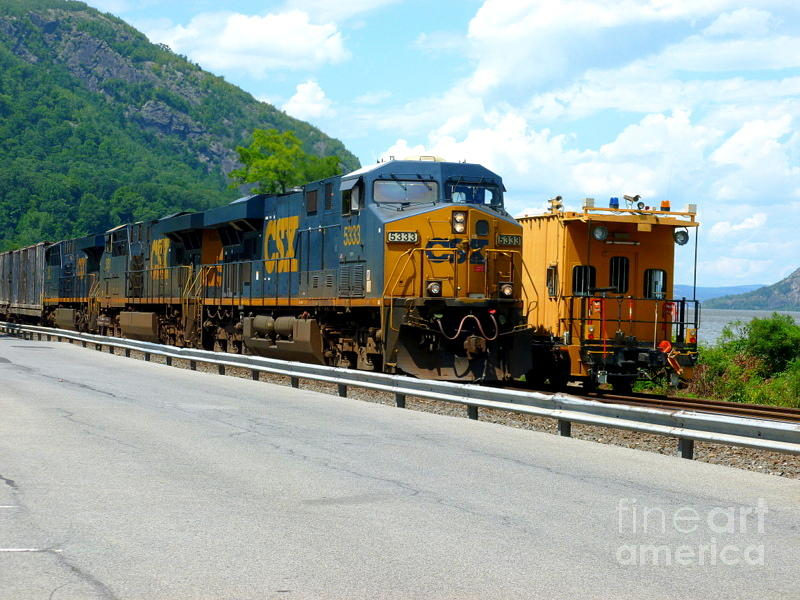 New York Photograph - Csx Train  by William Rogers