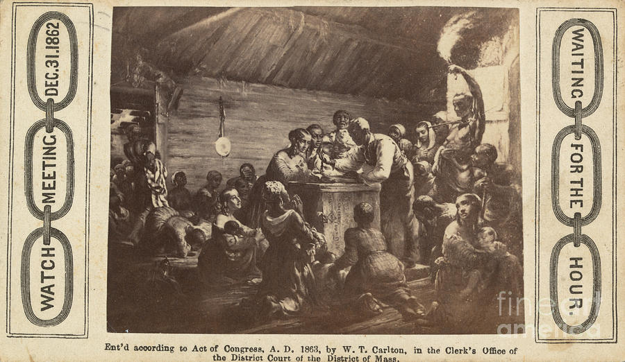 1863 Photograph - Emancipation Proclamation by Granger