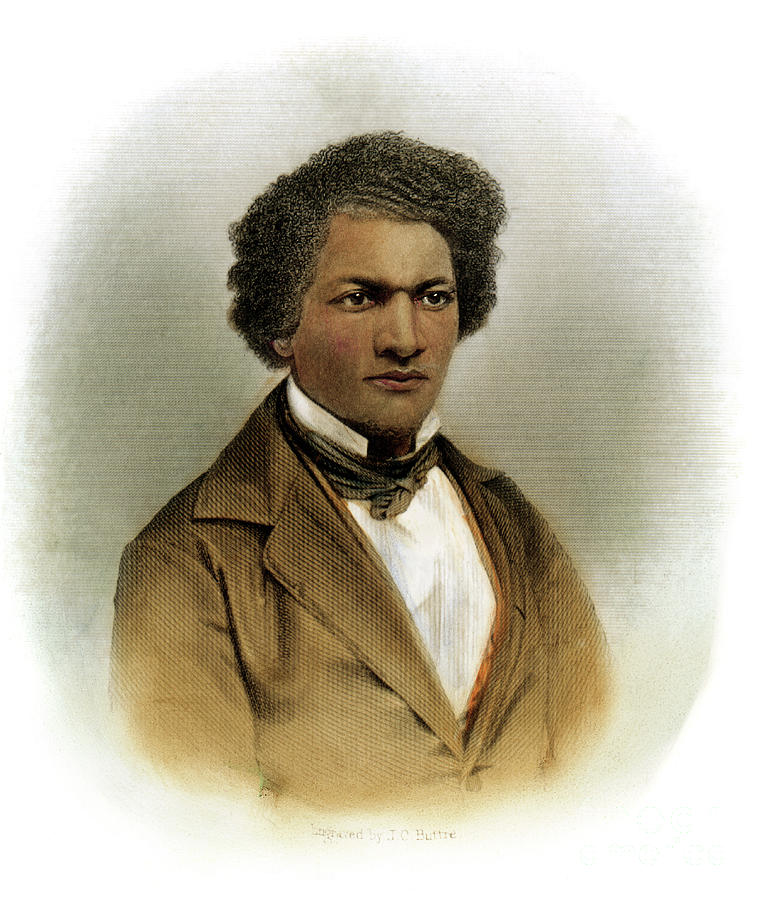 1854 Drawing - Frederick Douglass by Granger