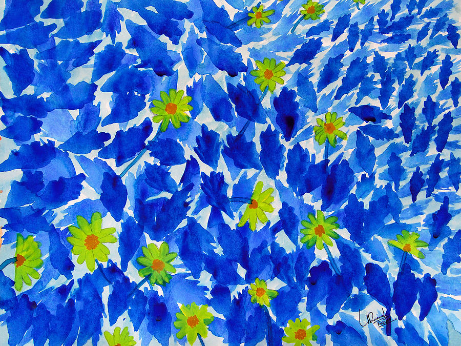 Lalbagh Flowers Painting by Prasad Setty