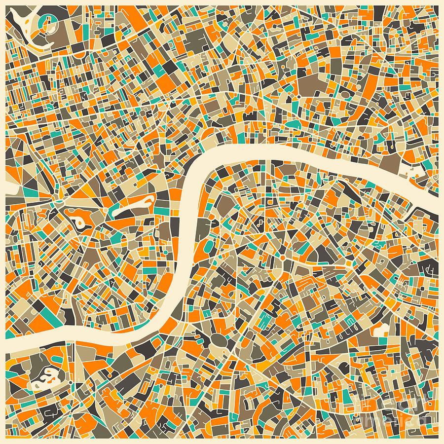 London Map Digital Art by Jazzberry Blue