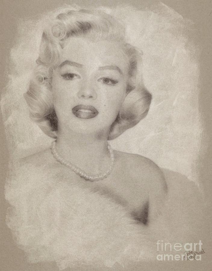 Marilyn Monroe Vintage Hollywood Actress Drawing