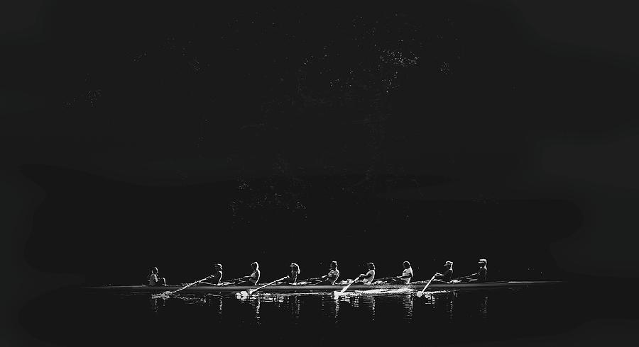 Active Photograph - 9-member Team Rowing Boat by Maxwell Dziku