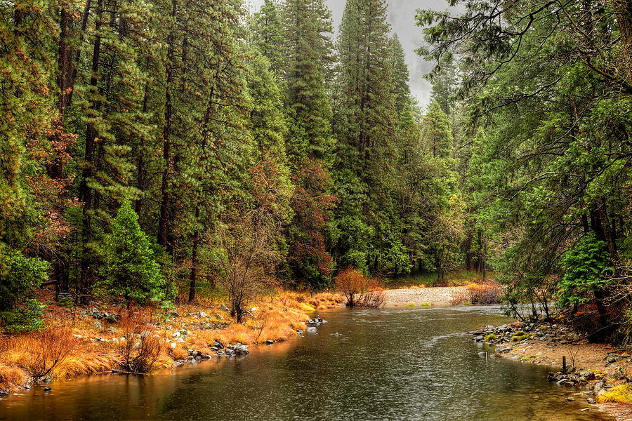 Merced Photograph - Merced River Yosemite Valley by Paul Moore