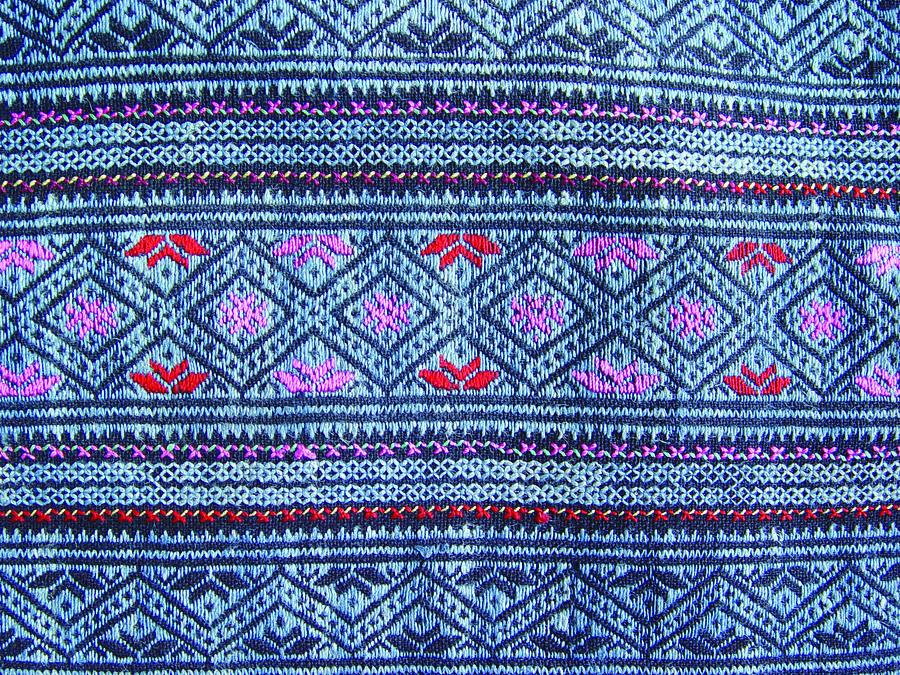 Guizhou Province Tapestry - Textile - Miao Costumes by He Hong