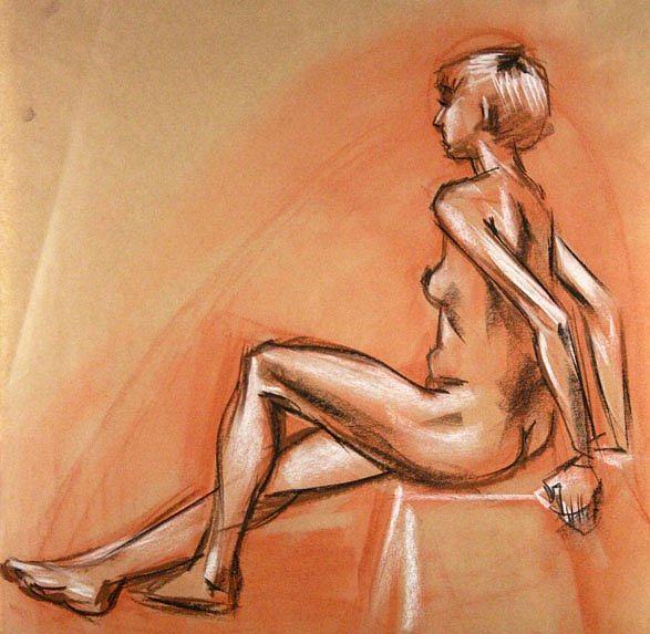 Nude Drawing - Model by Alex El