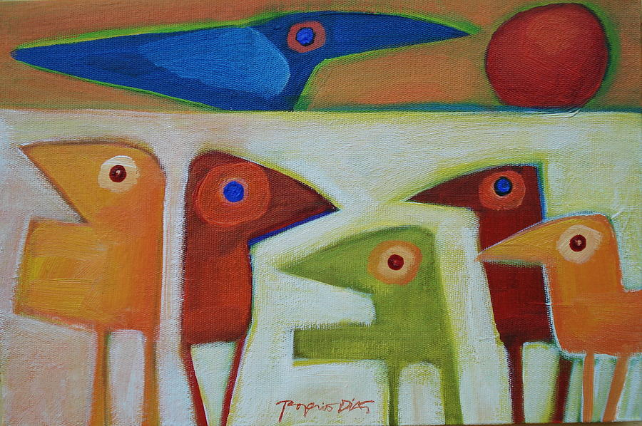 Bird Painting - No Title by Rogerio Dias
