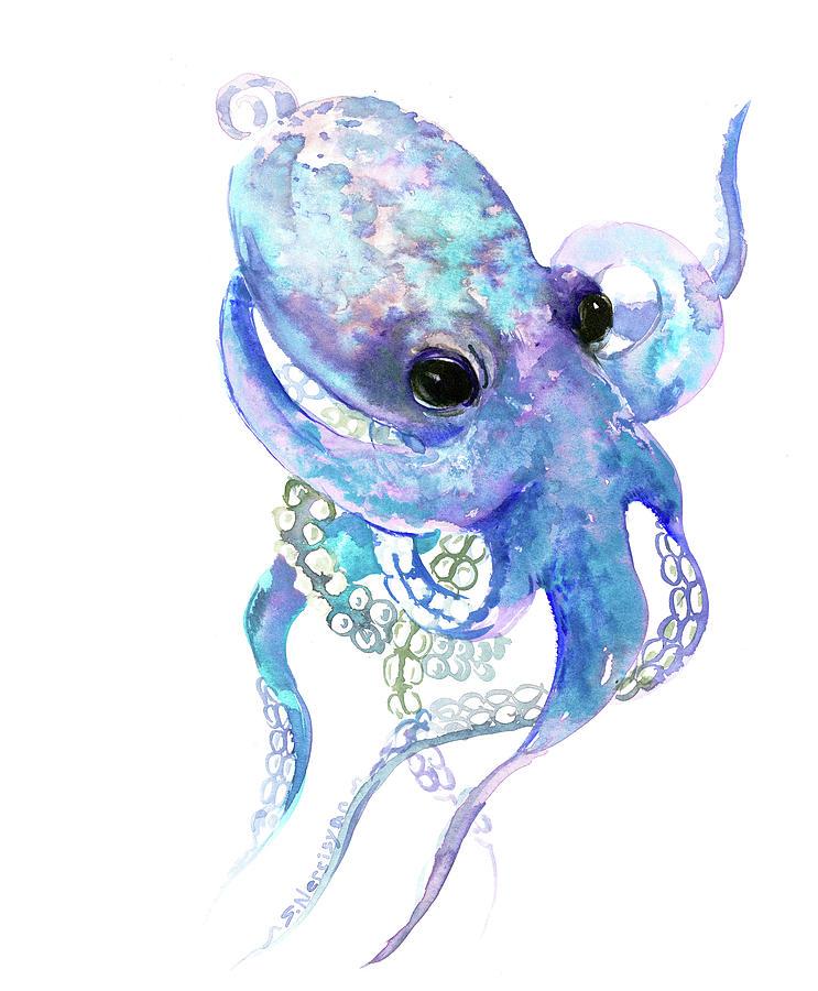 Octopus Painting By Suren Nersisyan