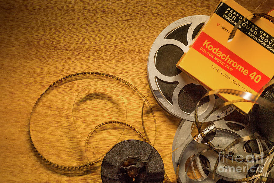 8mm Photograph - Retro - Old Kodachrome 8mm Film by Keith Morris