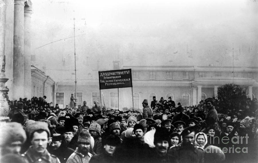 1917 Photograph - Russian Revolution, 1917 by Granger