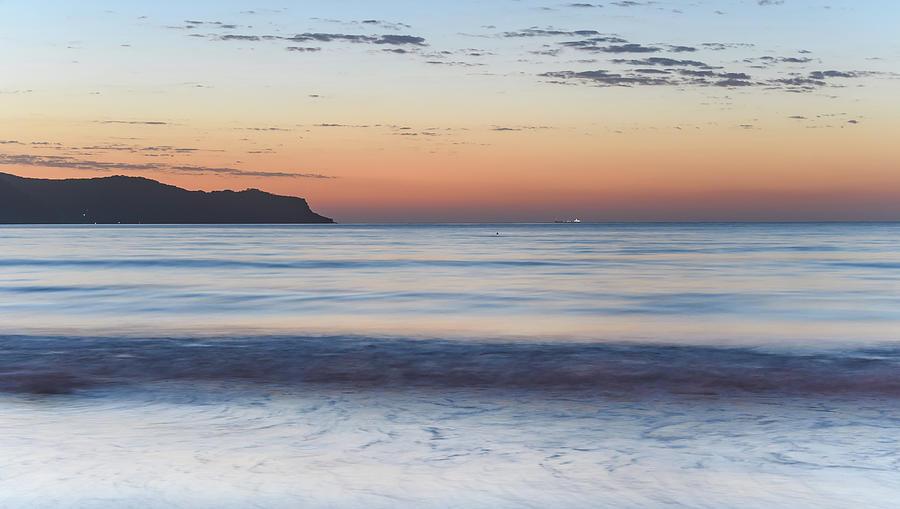 Umina Beach Photograph - Soft Sunrise Seascape by Merrillie Redden