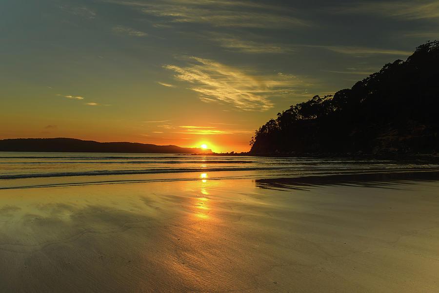 Australia Photograph - Sunrise Seascape From The Beach by Merrillie Redden