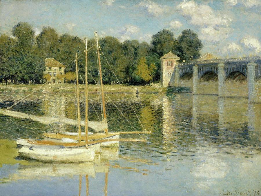 Bridge Painting - The Argenteuil Bridge by Claude Monet