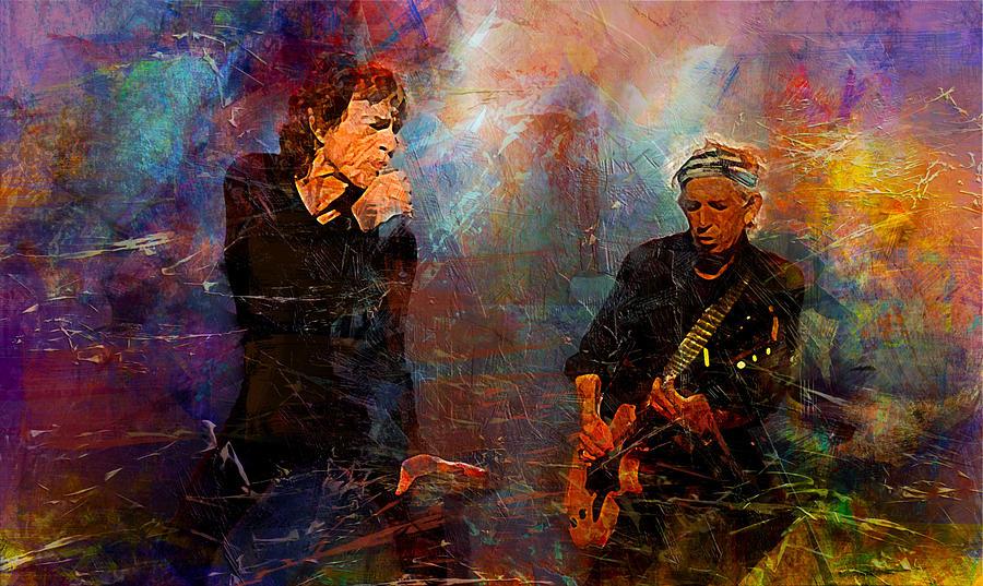 The Rolling Stones Digital Art By Lilia Kosvintseva