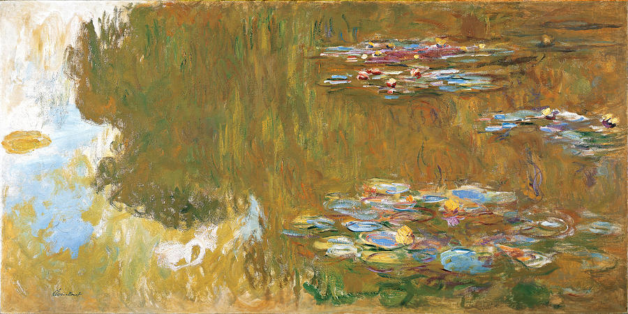 Outdoors Painting - The Water-lily Pond by Claude Monet