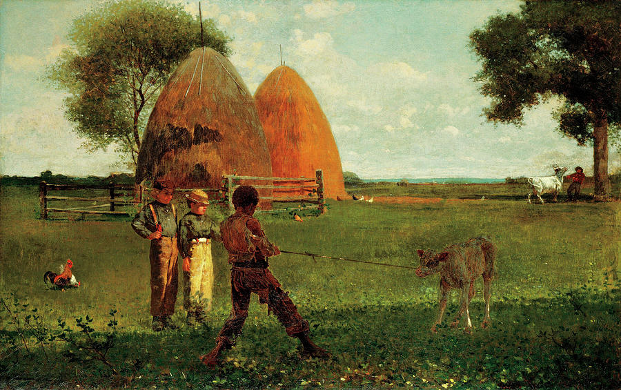 Weaning The Calf Painting - Weaning The Calf by Winslow Homer