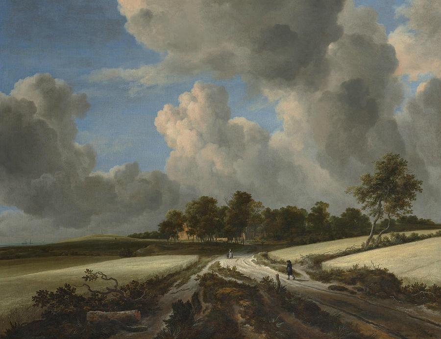 Dutch Painters Painting - Wheat Fields by Jacob van Ruisdael