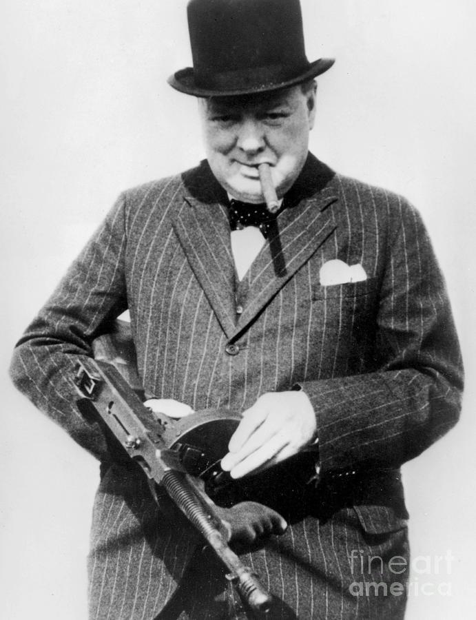 Churchill Photograph - Winston Churchill by English School